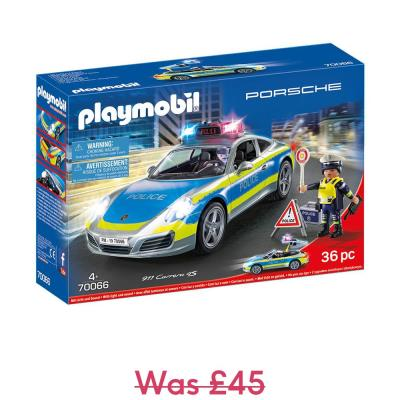 Playmobil Porsche Carrera Police Car with Lights and Sound