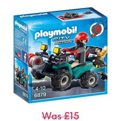 Playmobil City Action Robber's Quadbike