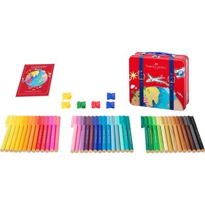 Connector Felt Tip Pen Travel Suitcase Set
