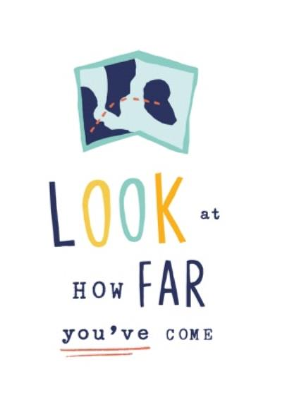 Look How Far You've Come Postcard