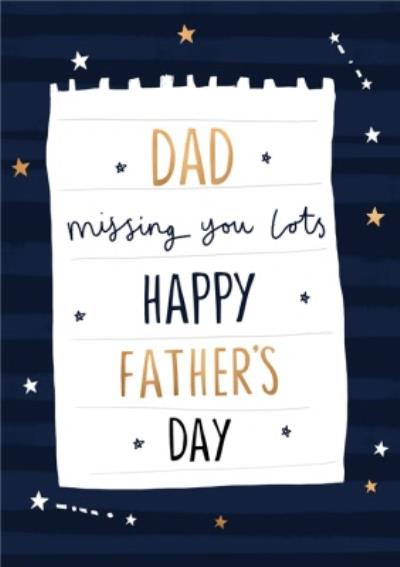 Missing You Lots Father's Day Card