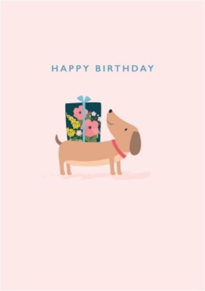 Klara Hawkins Dog & Present Birthday Greeting Card