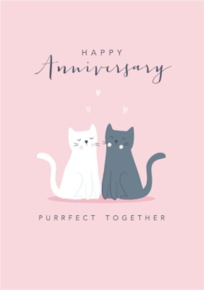 Klara Hawkins Purrfect Together Cat Anniversary Card