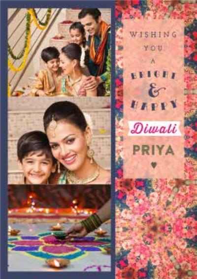 Photo Diwali Card