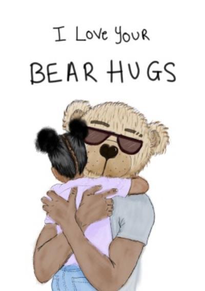 KitsCH Noir Birthday Bear Hugs Card
