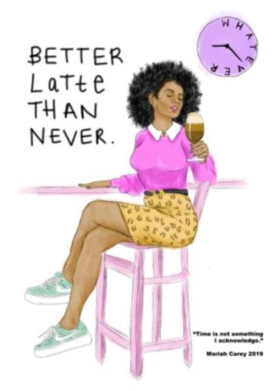 KitsCH Noir Woman Latte Mariah Carey Card
