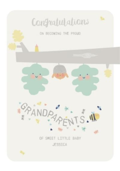 Congratulations grandparents new baby card