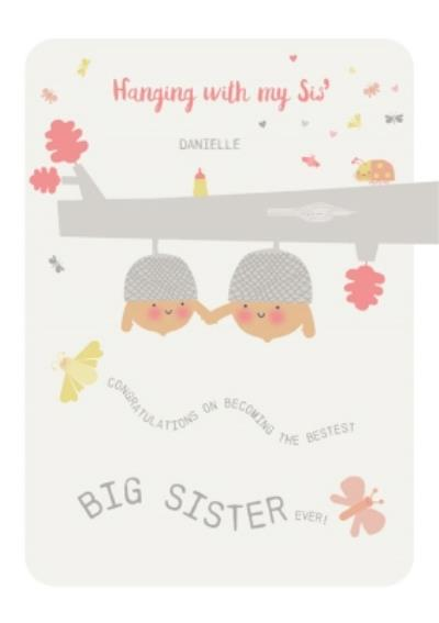 New baby sister card