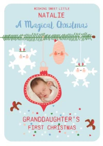 Granddaughter's First Christmas Photo Upload Card