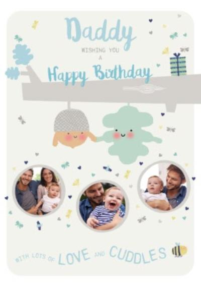 Little Acorns Photo Upload Daddy Wishing You A Happy Birthday Card