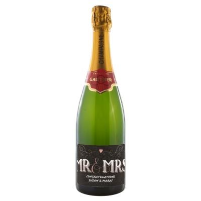 Mr & Mrs Personalised Gautier Champagne