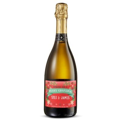 Personalised Merry Christmas Prosecco