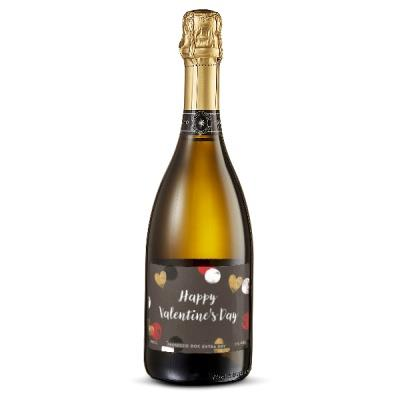 Happy Valentine's Day Personalised Prosecco