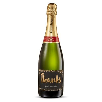 Personalised Thank You Champagne 75cl
