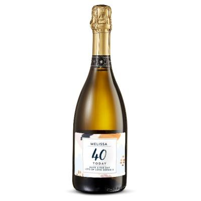 40th Birthday Personalised Prosecco 75cl
