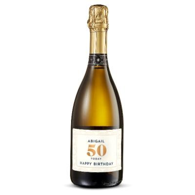 50th Birthday Personalised Prosecco 75cl