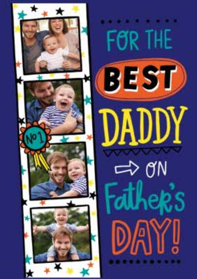 Typographic For The Best Daddy On Fathers Day Card