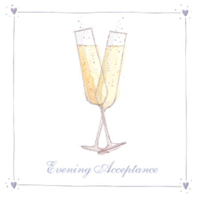 Illustrated Champagne Toast Personalised Card