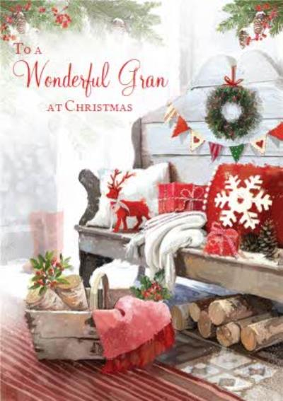 Wintertime At Home To A Wonderful Gran Christmas Card