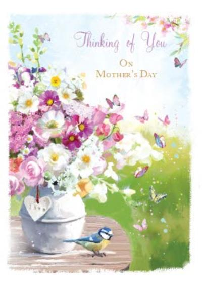 Bunches Of Spring Flowers Thinking Of You Mothers Day Card