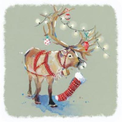 Decorated Reindeer Christmas Card