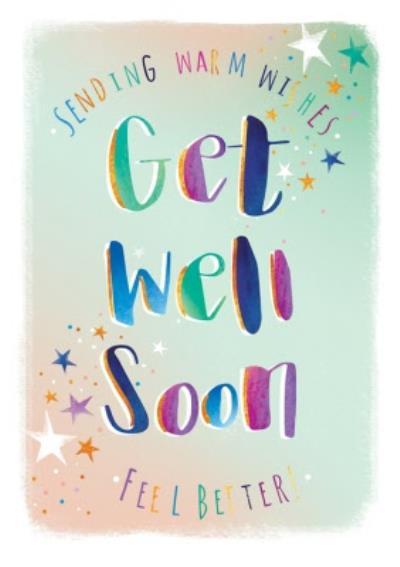 Ling design - Gett well soon card -  feel better