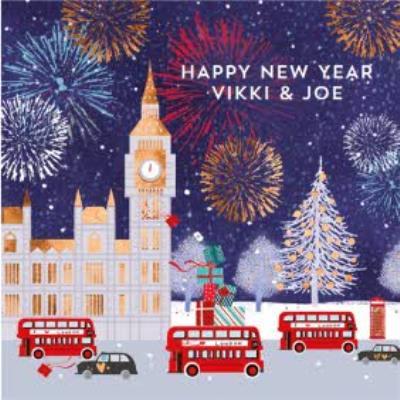 Big Ben At Christmas New Year Card