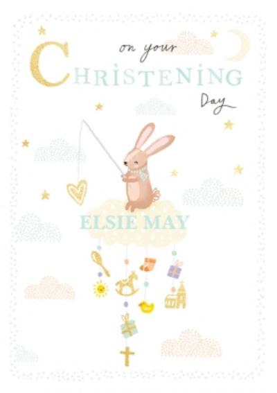 On A Cloud Cute Christening Card