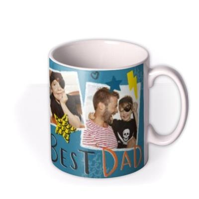 Punk Rock Best Dad Photo Upload Mug