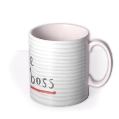 Like A Boss Personalised Mug