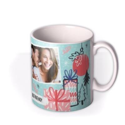 Merry Christmas Girlfriend Photo Upload Mug