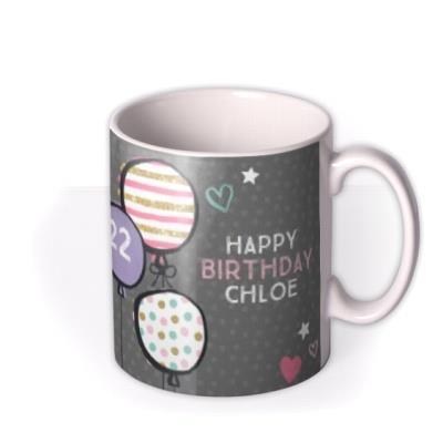 Pretty Pastel Balloons Birthday Photo Mug