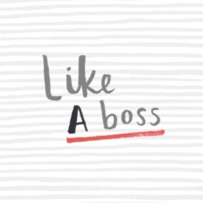 Striped Like A Boss Personalised Greetings Card