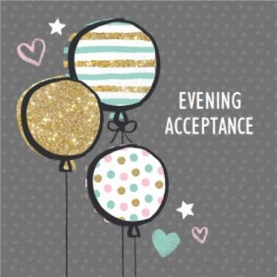 Sparkle, Stripes And Spots Personalised Wedding Evening Acceptance Card