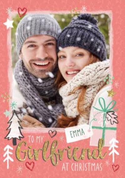 To My Girlfriend Photo Upload Christmas Card