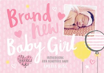 Lovely Day New Baby Girl Photo Upload Card