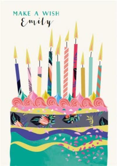 Laura Darrington Make A Wish Birthday Cake Card