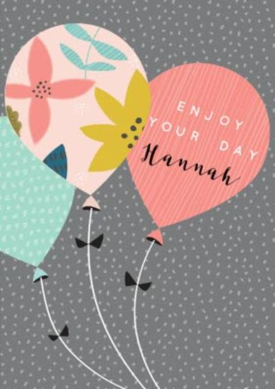 Modern Balloons Birthday Card