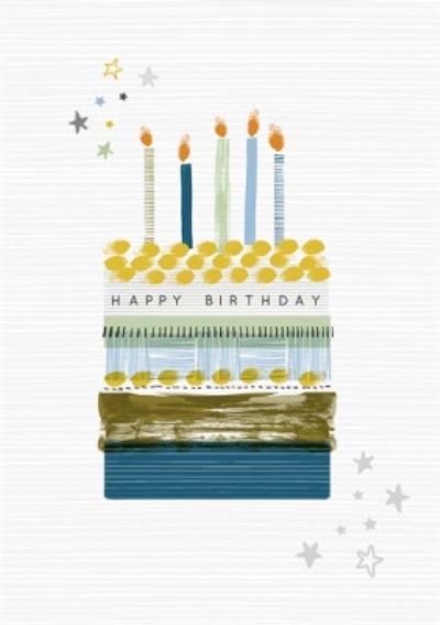 Laura Darrington Illustrated Birthday Cake Birthday Card