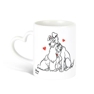 Lady and the Tramp Heart Handle Mug