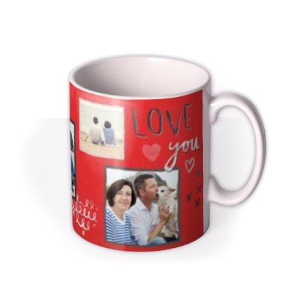 Heart and I Love You Photo Upload Mug