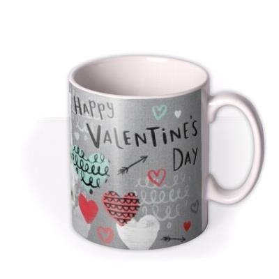 Valentine's Day Heart Photo Upload Mug