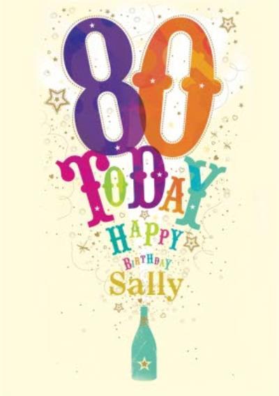 80 Today Birthday Card