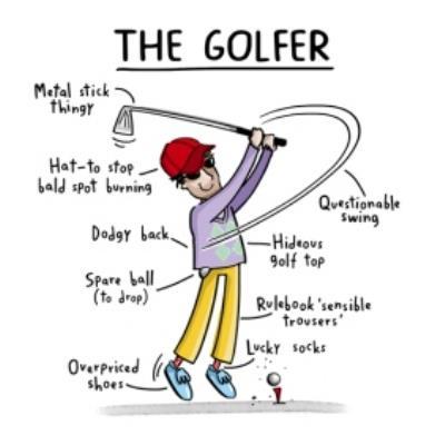 Funny The Golfer Birthday Card