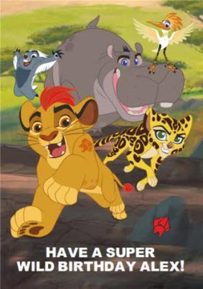 The Lion King A Super Wild Birthday Personalised Happy Birthday Card