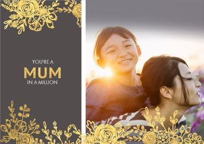 Mother's Day Card Mum in a Million Photo Upload Card