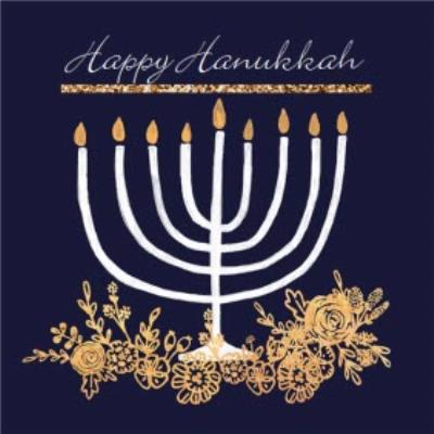 Happy Hanukkah Personalised Menorah Card