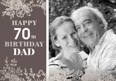 Le Jardin De Fleur Photo upload Birthday Card for Dad