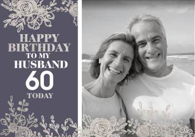 Le Jardin De Fleur Photo upload Birthday Card for My Husband