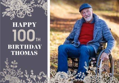 100th Birthday Photo Upload Card